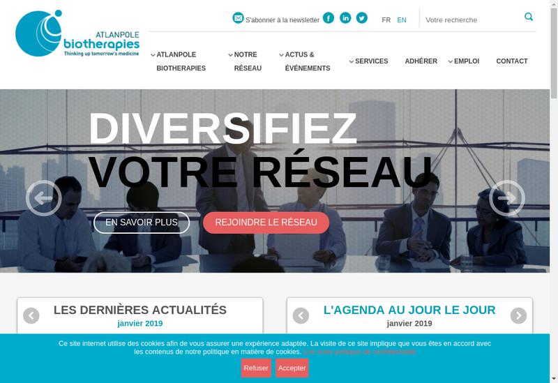 Capture d'écran du site de Ogd2 Pharma