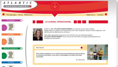 Site internet de Atlantic Recrutement