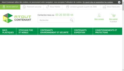 Capture d'écran du site de Web Equip