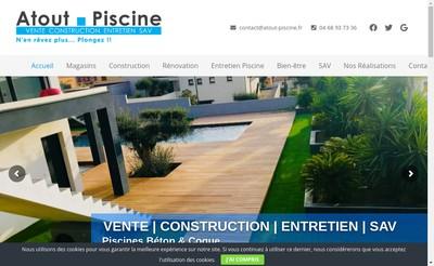 Site internet de Atout Piscine