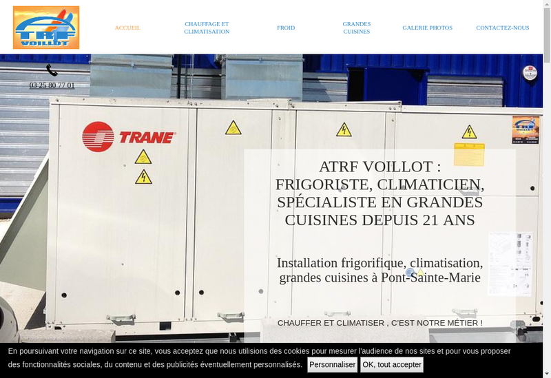 Capture d'écran du site de ATRF Voillot