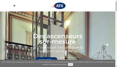 Site internet de La Boutique de l'Ascenseur