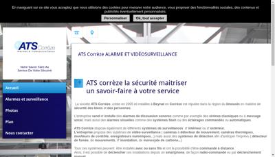 Capture d'écran du site de Ats Correze