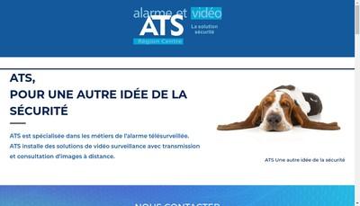 Site internet de ATS Alarme Telesurveillance Securite