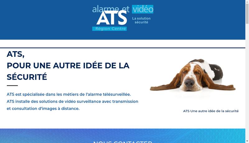 Capture d'écran du site de ATS Alarme Telesurveillance Securite
