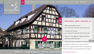 Site internet de Restaurant au Coq Blanc