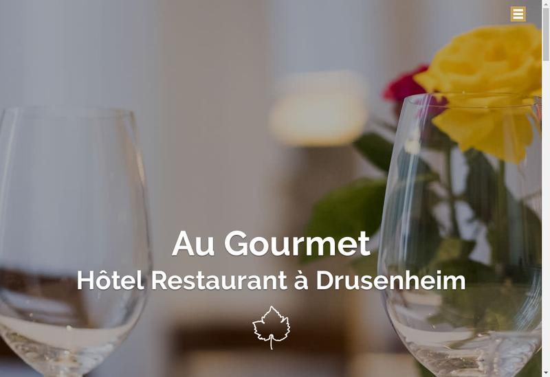 Capture d'écran du site de Auberge du Gourmet