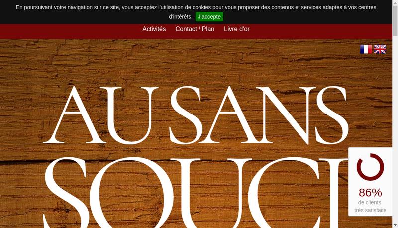 Capture d'écran du site de Le Sans Souci