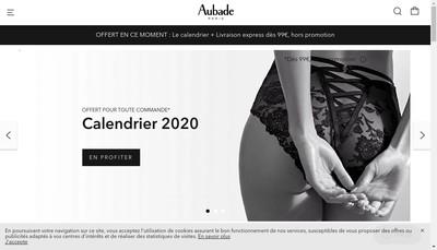 Site internet de Aubade Paris