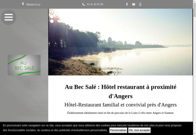 Capture d'écran du site de SARL Unip Hotel Restaurant le Bec Sale