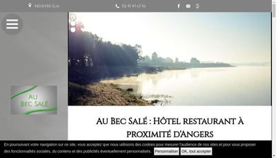 Site internet de SARL Unip Hotel Restaurant le Bec Sale