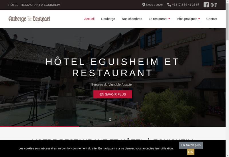 Capture d'écran du site de Auberge du Rempart