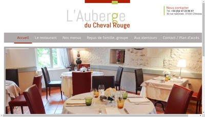 Site internet de Auberge du Cheval Rouge