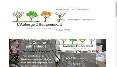 Site internet de L'Auberge d'Hempempont