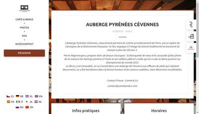 Site internet de Auberge Pyrenees Cevennes