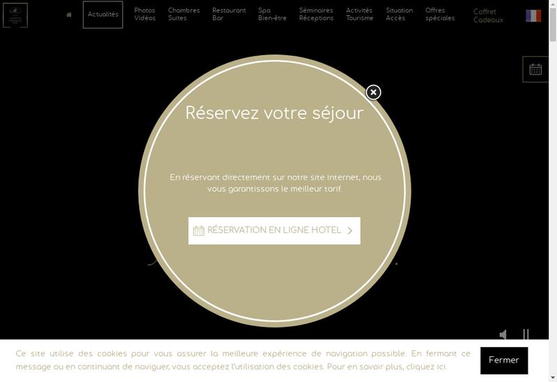 Capture d'écran du site de Auberge de Cassage & Spa