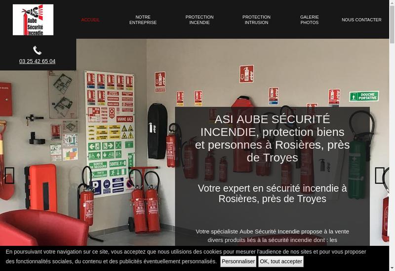 Capture d'écran du site de ASI