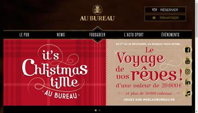 Capture d'écran du site de Au Bureau