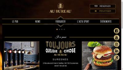 Capture d'écran du site de Au Bureau Suresnes