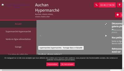 Site internet de Auchan Hypermarche