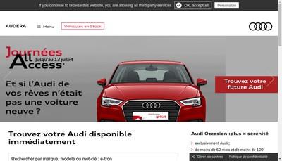 Site internet de Audera