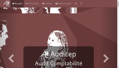 Site internet de Audicep (Audit Comptabilite Expertise Paies)