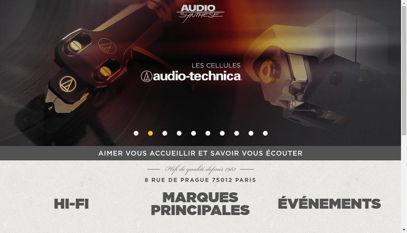 Capture d'écran du site de Audio Synthese Integration