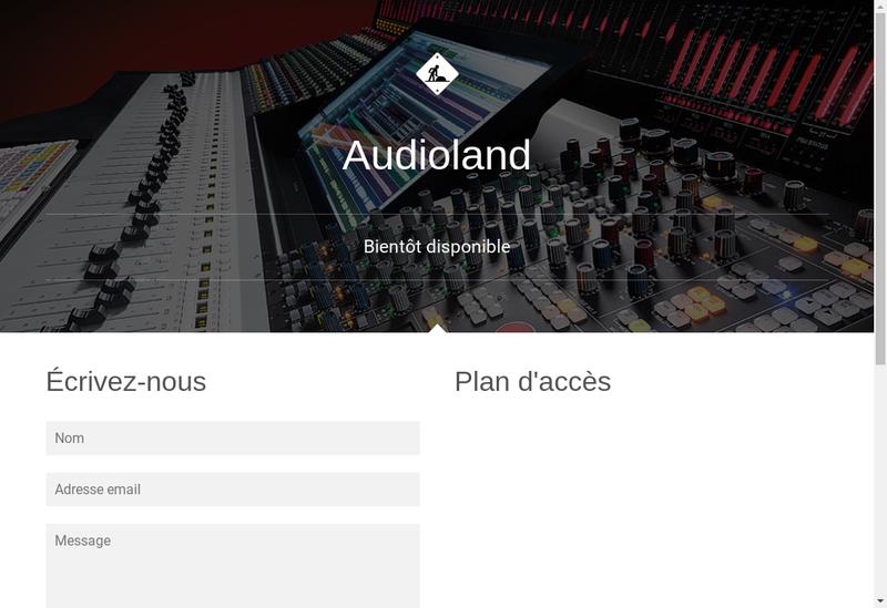 Capture d'écran du site de Audio Land