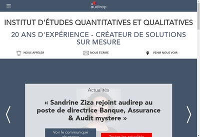 Site internet de Audirep Terrain