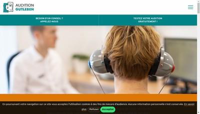 Site internet de SARL Audition Gutleben