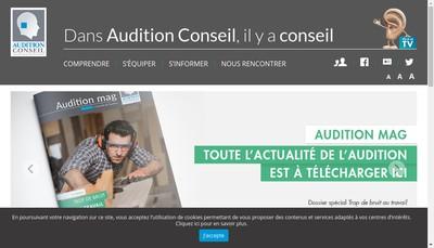 Site internet de Audition Conseil France