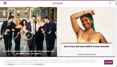 Site internet de Aufeminin
