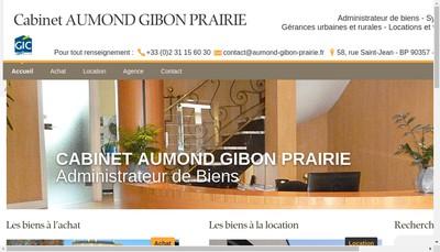 Site internet de Cabinet Aumond Gibon Prairie