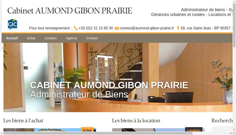 Capture d'écran du site de Cabinet Aumond Gibon Prairie