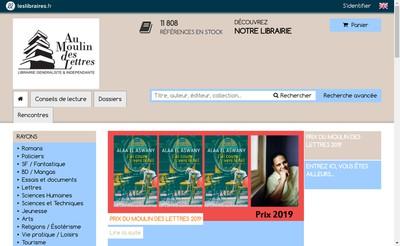 Site internet de Au Moulin des Lettres