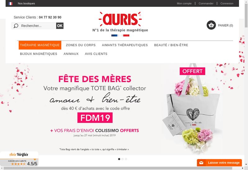 Capture d'écran du site de Auris Institut Actipol Medimag Biosom