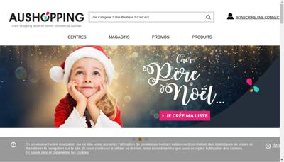 Capture d'écran du site de Aushopping