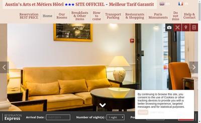Site internet de Austin'S Arts et Metiers Hotel