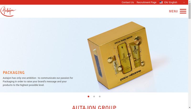 Capture d'écran du site de Autajon Labels Rouen