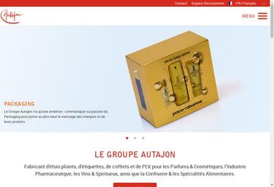 Site internet de Autajon Labels Rouen