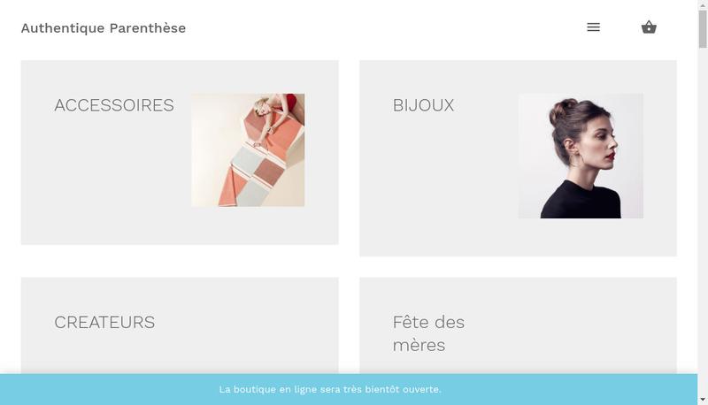 Capture d'écran du site de Authentique Parenthese
