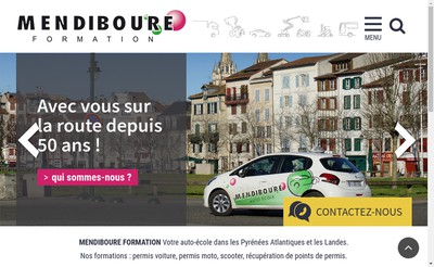 Site internet de Mendiboure Formation