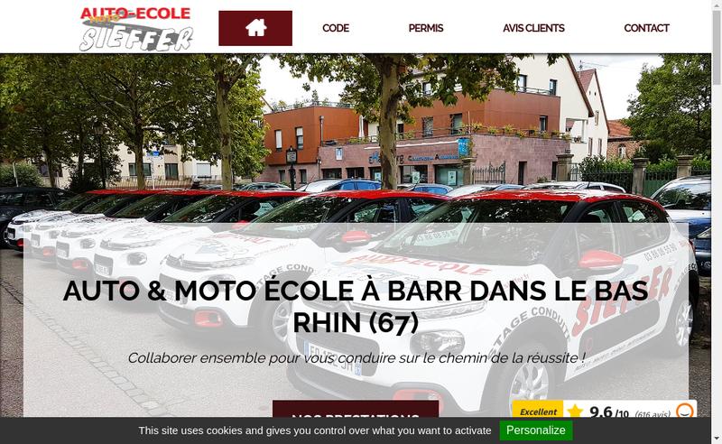 Capture d'écran du site de Auto Ecole Sieffer