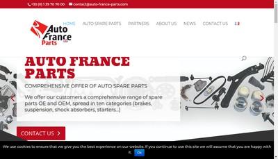 Site internet de Auto France Parts