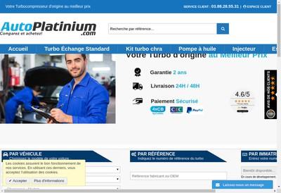 Site internet de Auto Platinium