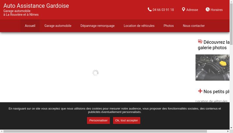 Capture d'écran du site de Auto Assistance Gardoise