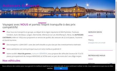 Site internet de Autocars Casteran