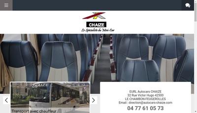 Site internet de Autocars Chaize