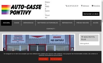Site internet de Auto Casse Pontivy