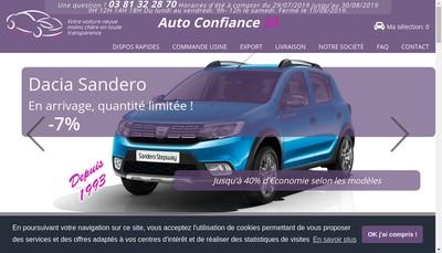 Site internet de SARL Autoconfiance 25